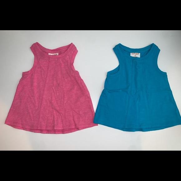 Cat & Jack 18m like new tank tops - pink/blue